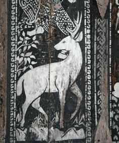 deer, painted on a Shutter Dragon Age Inquisition, Solas Dragon Age, Narnia, Elf Rogue, Potnia Theron, Medieval, The Grisha Trilogy, Art Populaire, Throne Of Glass