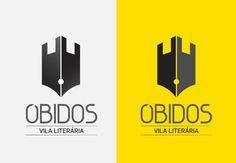 Óbidos Vila literária Identity on Behance