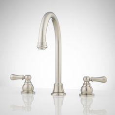 Ruby Widespread Bathroom Faucet - No Overflow - Brushed Nickel