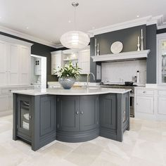 Image result for grey painted kitchens