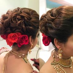 Pre wedding hair goals Entwined hair look for cocktail Hair Artistry By Archana Rautela Indian Bridal Hairstyles, Ethnic Hairstyles, Bride Hairstyles, Spanish Hairstyles, Hairstyles 2016, Bridal Hairdo, Wedding Braids, Long Hair Wedding Styles, Bridal Makeup Looks