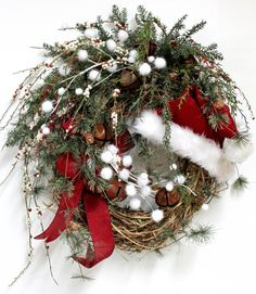 Jingle All The Way Country Christmas Wreath by FloralsFromHome.