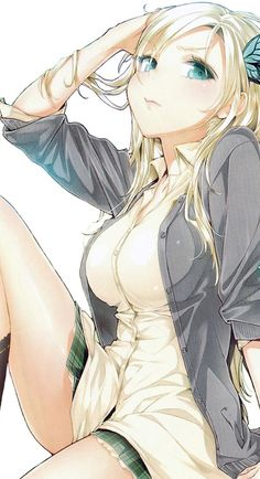 Sena, from Haganai. #anime #artwork | I like this a lot. I'll have to try and draw something similar... :)