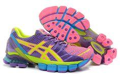 56b2b6aff4d9 Wholesale Discount Asics Kinsei 4 Womens Pink Purple Yellow Chlorine Blue  Fashion Shoes Shop Asics Shoes