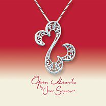 Open Hearts by Jane Seymour Diamond Necklace Jane Seymour Open Heart, Open Heart Collection, Cool Necklaces, Heart Necklaces, Silver Jewelry, Fine Jewelry, Diamond Pendant Necklace, Jewelery, Fashion Accessories
