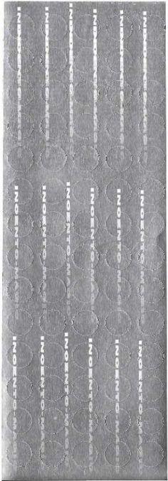 #8006S Silver Foil Dots. Actual size measures 2 7/8 x 8 1/4