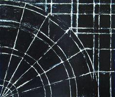 black minimalism, minimalism, geometric, abstract white line circle pattern, acrylic painting #2012, 2004 | Kazuya Akimoto Art Museum