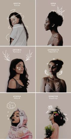 greek goddesses + of the pantheon