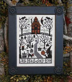 All Hallows Eve - Cross Stitch Pattern  by Prairie Schooler