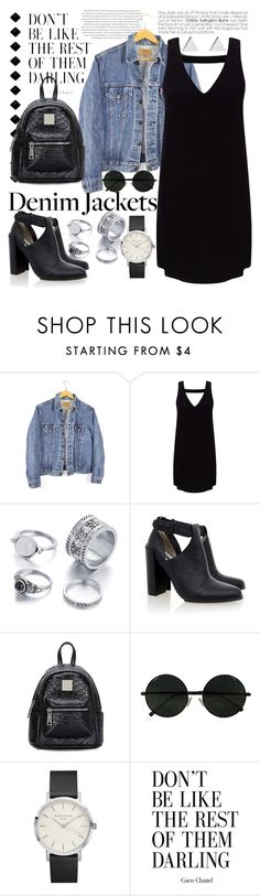 """#075 ENA"" by enicanovi ❤ liked on Polyvore featuring Envi, Levi's, Miss Selfridge, Senso, Jennifer Meyer Jewelry, denimjackets and WardrobeStaples"