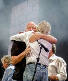 Live8 Concert Hyde Park, London, Britain - 02 Jul 2005, Pink Floyd - David Gilmour and Rick Wright (Photo by Brian Rasic/MJ Kim/Antonio Pagano).