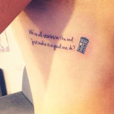 Doctor Who tattoo #CoolTattooDoctorWho