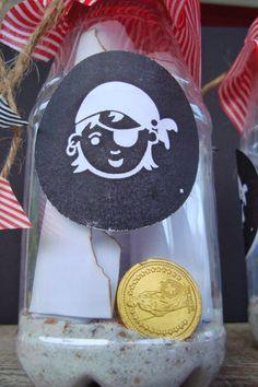 Piratenparty Flaschenpost Einladung Kindergeburtstag | Piratengeburtstag |  Pinterest