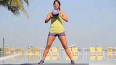 Medicine Ball Squats 3 sets of 10 reps