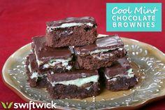 Cool mint chocolate brownies