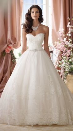 Fairytale Princess ~ David Tutera for Mon Cheri Spring 2014 Bridal Collection | bellethemagazine.com
