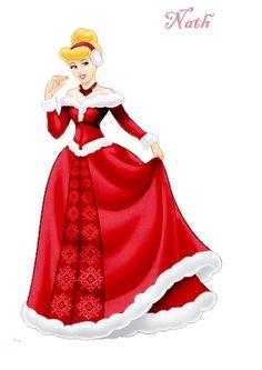 Cendrillon en tenue de Noël.