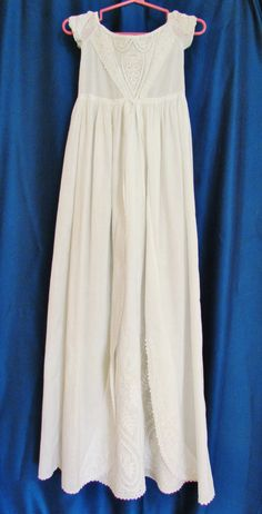 Vintage christening gown Ayrshire lace c1840 by mathildasattic