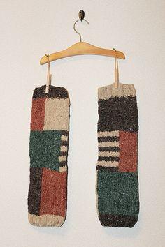 ヘンプウール レッグウォーマー【tsutsumu】パズルエメラルド×オレンジ Socks, Knitting, Nice, Crochet, Tricot, Breien, Crochet Crop Top, Sock, Weaving