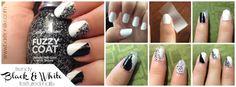 Trendy Black & White Textured Nail Art Tutorial Sally Hansen