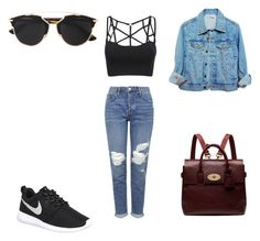"""""""Untitled #464"""" by aatk on Polyvore featuring NIKE, Mulberry, Topshop, Christian Dior, women's clothing, women's fashion, women, female, woman and misses"""