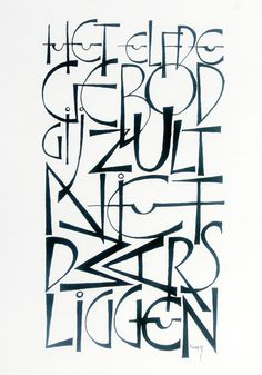 'Kalligrafie' 20th' C German version