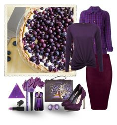 """blueberry pie"" by art-gives-me-life ❤ liked on Polyvore featuring Chanel, M&Co, Just Cavalli, Via Spiga, Bobbi Brown Cosmetics, Thierry Mugler, NYX, Modern Vintage, Barry M and Forever 21"