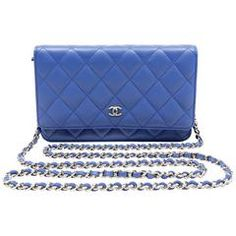 Chanel Electric Blue Leather WOC- Wallet on a Chain