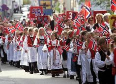 Children's parade in Haugesund, Norway's Constitution Day on May 17th. On this day, you can experience the world's longest children's parade in Norway.