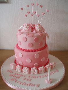 Girls Bootee Christening Cake