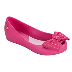 45c6bde0077e4 Melissa Shoes - Girl s Ultragirl Sweet in Pink...a delicate fabric bow with