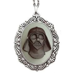 Star Wars Necklace Darth Vader Jewelry Grey ($28) ❤ liked on Polyvore featuring jewelry, necklaces, gray jewelry, grey jewelry and grey necklace