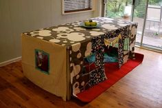 dinning table into tent