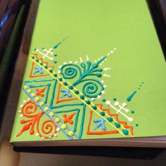 Mini journal with acrylic paint by Henna on Hudson