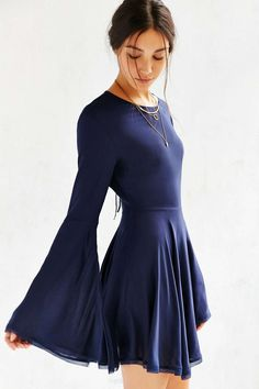 THIS DRESS IS TIED FOR FIRST WITH THE BLUEISH GREY ONE Ecote Sascha Bell Sleeve Dress