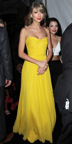 Taylor Swift's Red Carpet Style - In Jenny Packham, 2015 - from InStyle.com
