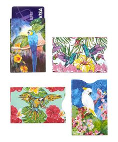 Travel and cruise safety is not for the birds says PJ! Birds Armored Credit Card Sleeve Set of 4 #zulilyfinds Call Wild Side Destinations for cruise planning, group cruising, we'll get you all the perks, too! 503-630-5570  pj@wildsidedestinations.com #allcruisersallowed #allgroupsallowed