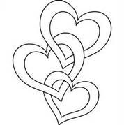 three heart Outline - Bing Images