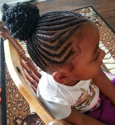 black girls braided bun hairstyle
