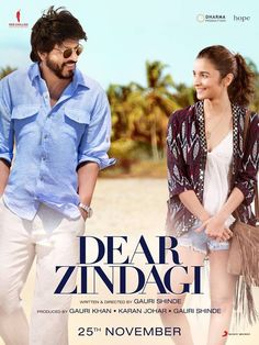 Directed by Gauri Shinde.  With Alia Bhatt, Shah Rukh Khan, Kunal Kapoor, Aditya Roy Kapoor. Kaira is a budding cinematographer in search of a perfect life. Her encounter with Jug, an unconventional thinker, helps her gain a new perspective on life. She discovers that happiness is all about finding comfort in life's imperfections.