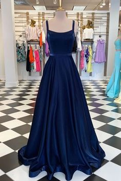 Straps Navy Long A-line Simple Long Prom Dresses, 2020 Prom Dresses, New Arrival Cheap Prom Dresses Customized service and Rush order are available. *** Customers need to know : All of the dresses don't come Prom Dresses With Pockets, Straps Prom Dresses, Prom Dresses Blue, Homecoming Dresses, Dress Prom, Dark Blue Prom Dresses, Junior Prom Dresses, Pageant Dresses, Bridesmaid Dresses