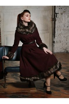 Collectif Vintage Pearl Coat - Collectif Vintage from Collectif UK