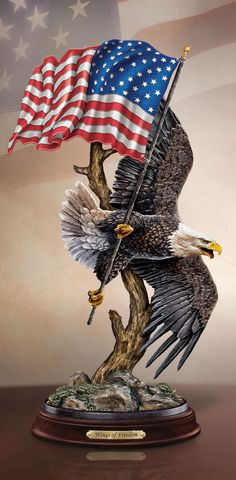Let your patriotic spirit soar with this inspiring Ted Blaylock bald eagle sculpture. A portion of the proceeds from each sale will be donated to support families of our fallen first responders.