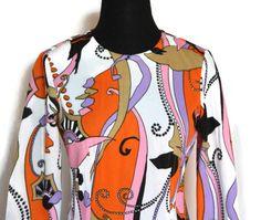 Vintage 1960s Psychedelic Long Sleeve by VarietyVintagebyALD, $52.50
