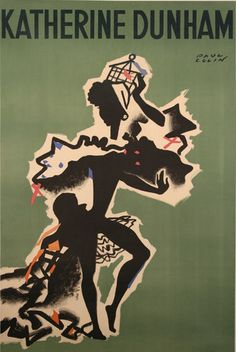 "Poster by Paul Colin (1892-1985), 1947, ""Katherine Dunham""(matriarch and queen mother of black dance), Théâtre de Paris. (F)"