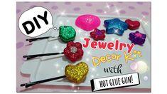diy jewelry decor kit with hot glue gun : ทำของตกแต่งจากปืนกาว