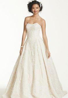 Oleg Cassini at David's Bridal Oleg Cassini Style CWG635 Wedding Dress - The Knot