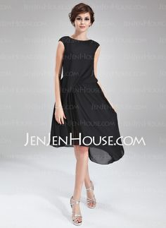 Cocktail Dresses - $123.99 - A-Line/Princess Scoop Neck Asymmetrical Chiffon Cocktail Dress With Ruffle Beading (016021163) http://jenjenhouse.com/A-Line-Princess-Scoop-Neck-Asymmetrical-Chiffon-Cocktail-Dress-With-Ruffle-Beading-016021163-g21163