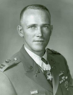This is a Medal of Honor recipient named Roger H. C. Donlon. He fought as a captain in the army near Nam Dong, Republic Of Vietnam on July 6, 1964. He received the Medal of Honor because he rescued and administered first aid to several wounded soldiers and led a group to defeat an enemy force causing them to retreat leaving behind 54 of their dead men, many weapons and grenades. What made him think of taking leadership and rescuing the soldiers?