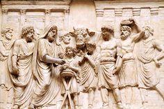 Sacrifice,roman marble  relief of  unknown provenance,Museo Chiamorti,Braccio Nuovo,Musei Vaticani.